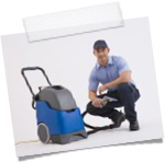 Cleaning staff with Carpet Cleaning machine.